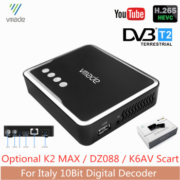 Italy TV Receiver DVB-T2 H.265/HEVC 10bit Digital Terrestrial TV Tuner Decoder AC3 HD Audio Built-in RJ45 Network Fast Shipping 5 1 audio gear 2 in 1 5 1 channel ac3 dts 3 5mm audio gear digital surround sound decoder stereo l r signals decoder hd play