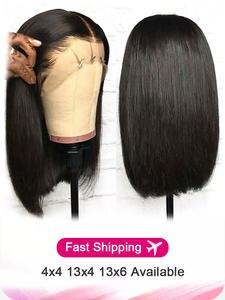 Yyong Bob Wig Short Bob-Wigs Human-Hair-Wigs Blunt Lace-Front Remy Straight Brazilian
