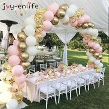 103pcs DIY Balloon Garland Kit Arch Set Black Gold Ballons For Baby Shower Bridal Shower Wedding Birthday Party Background Decor