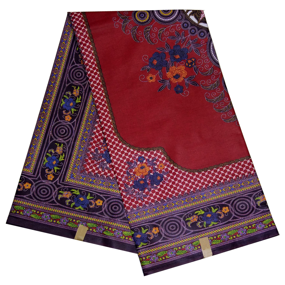 100% Cotton African Print Fabric Nigerian Ankara Veritable Wax Dashiki Print Red Fabric African Fabric For Party 6yards