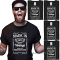 Meaningful Unique Retro Men's T-shirt 46 47 48 49 50 Years Old Gift 1971 1972 1973 1974 1975 Birth Graphic T-shirt