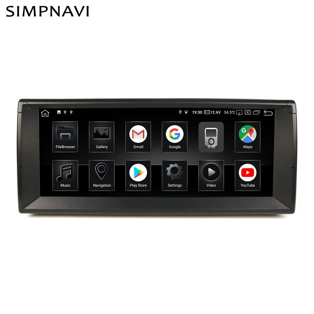 <font><b>10.25</b></font> inch IPS <font><b>Android</b></font> In Dash Car Multimedia Player For <font><b>BMW</b></font> E39 4GB RAM 64GB ROM Built in Carplay AndroidAuto DSP 15Bands EQ image