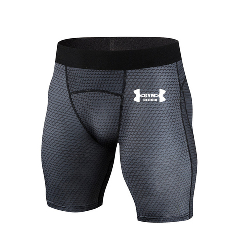 Brand Fitness Men's Shorts Tights Men's Compression Short Body Shorts Gym Cossfit Sports Quick-drying Stretch Shorts Leggings