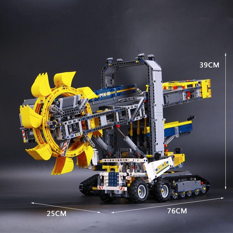 20015 3929 قطعة تكنيك سلسلة دلو حفارة بعجلات سيارة كهربائية نموذج مدينة اللبنات متوافق 42055 الطوب اللعب هدية-في حواجز من الألعاب والهوايات على  مجموعة 2