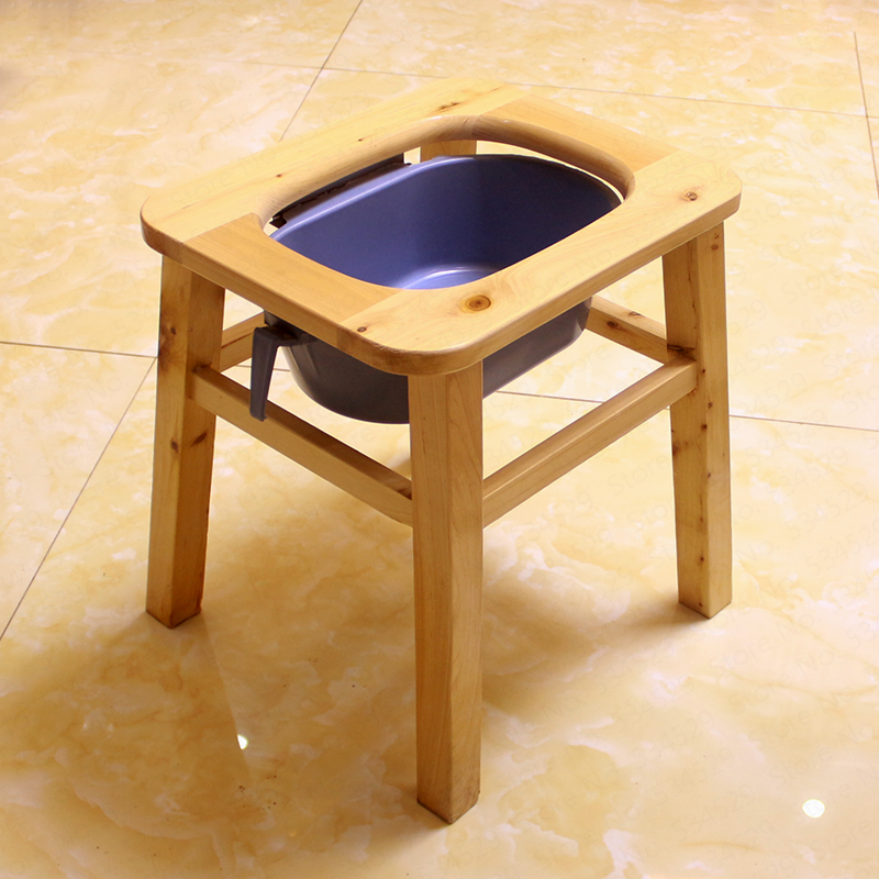 Portable Toilet, Solid Wood Commode Chair Toilet Seat For Senior Adults, Handicap, Elderly ,medical Commode ,160kg Furniture
