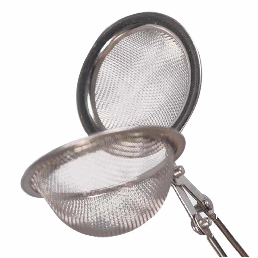 Cuillère à ressort thé maille boule infuseur filtre cuillère à café presser crépine créative métal acier inoxydable poignée cuillère