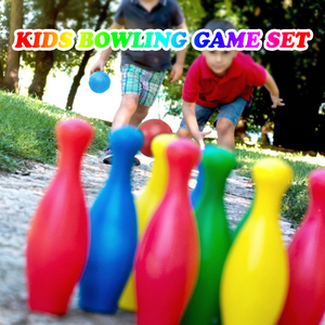 Kids Bowling Toys Set 2PCS Bowling Balls 10PCS Pins Outdoor Indoor Gutterball Bowling Games Great Gift for Boys Girls Children(China)