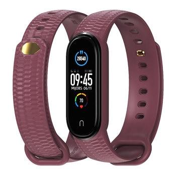 For Mi Band 5 6 Strap Bracelet Miband 5 Opaska Wristband for Xiaomi Correa Smart Band 4 Pulseira Silicone Pasek Mi 5 Band 1