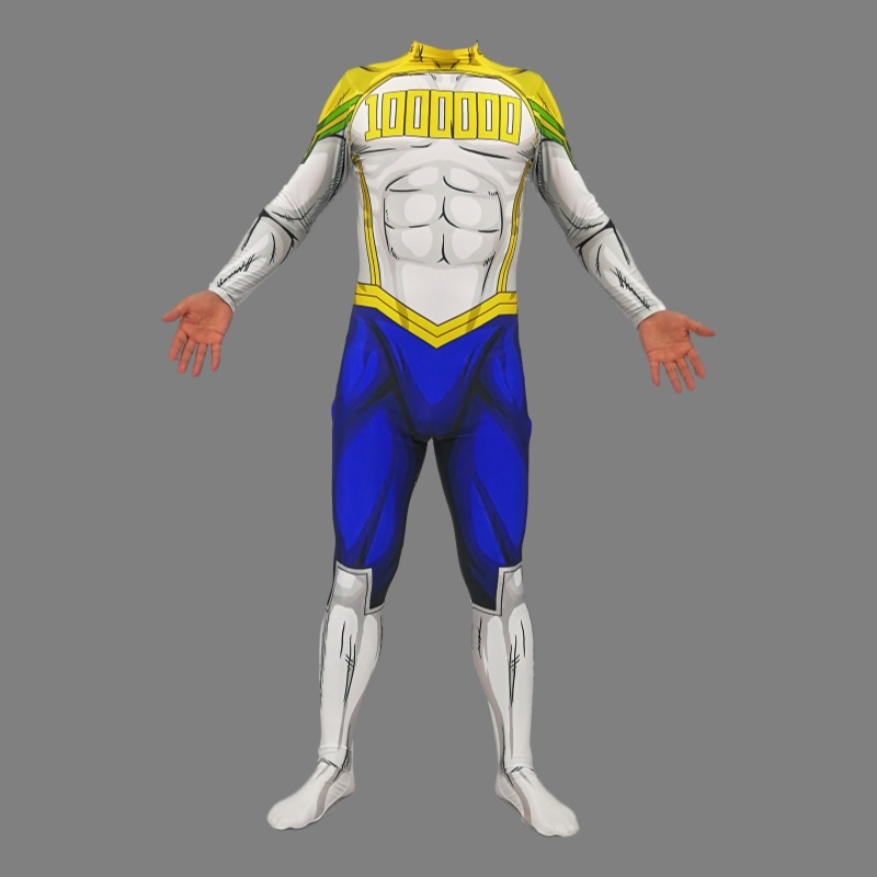Adult Kids My Hero Academia Million <font><b>Mirio</b></font> Togata <font><b>Cosplay</b></font> Costume Children Boy and Mens Zentai Superhero Bodysuit Suit Jumpsuits image