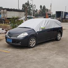 Kleine Auto Top Cover Uv bescherming Waterdicht Outdoor Indoor Shield Voor Hatchback Stofdicht Half Body Covers Met Rode Zakcar cover uvhalf car coveruniversal car covers