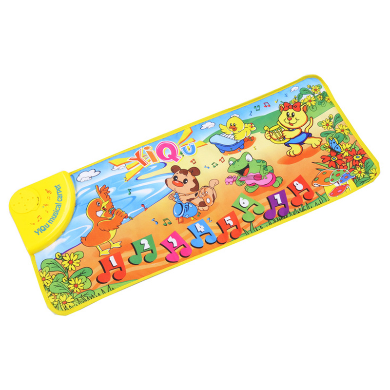YiQu Music Mat Piano Mat Music Mat For Toddlers-Animals Dance Baby Music Carpet Educational Toys Carpet Touch Toy For Baby Kids