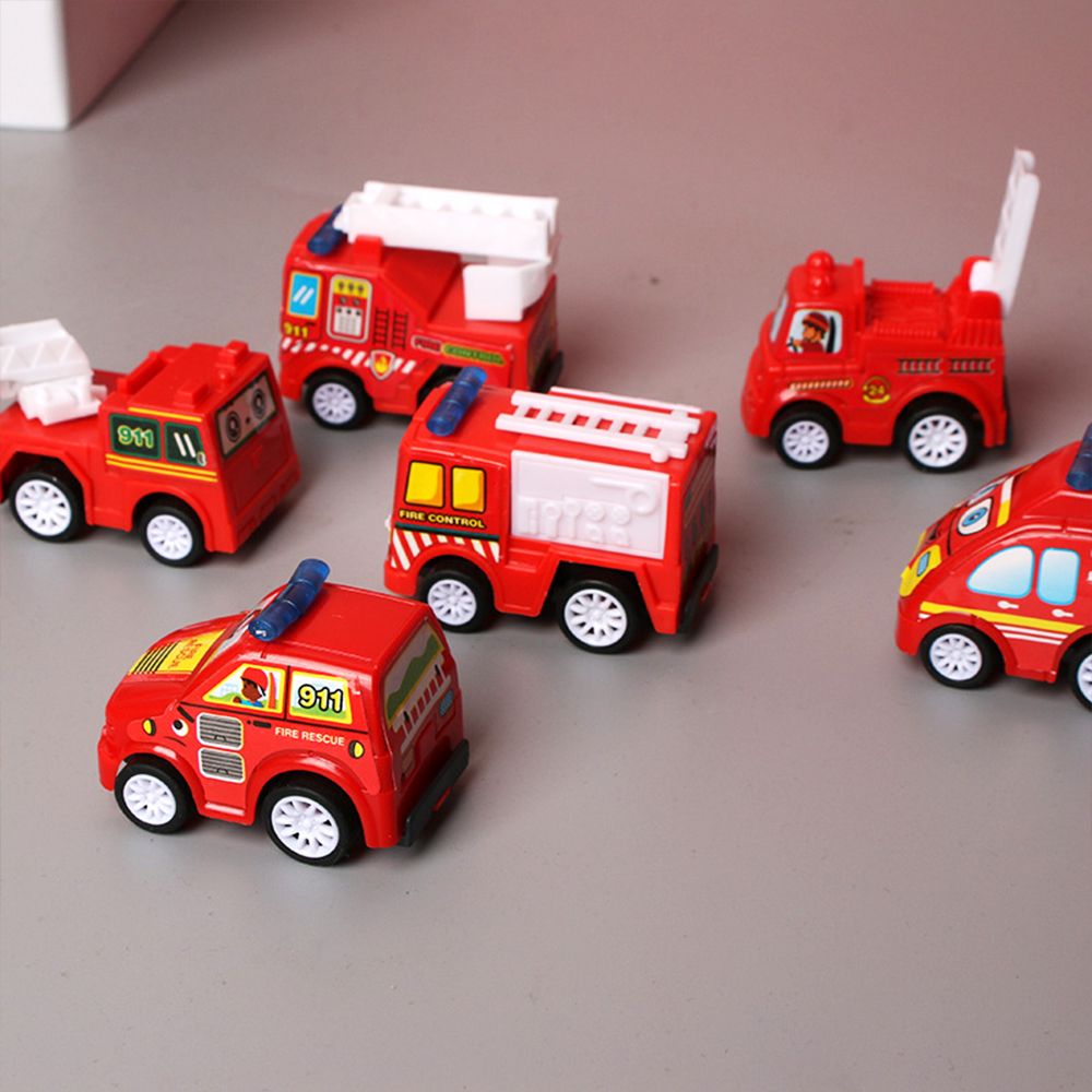 Kids Mini Cars Model Toy Car 6pcs New Pull Back Mobile Vehicle Boys Toys Taxi
