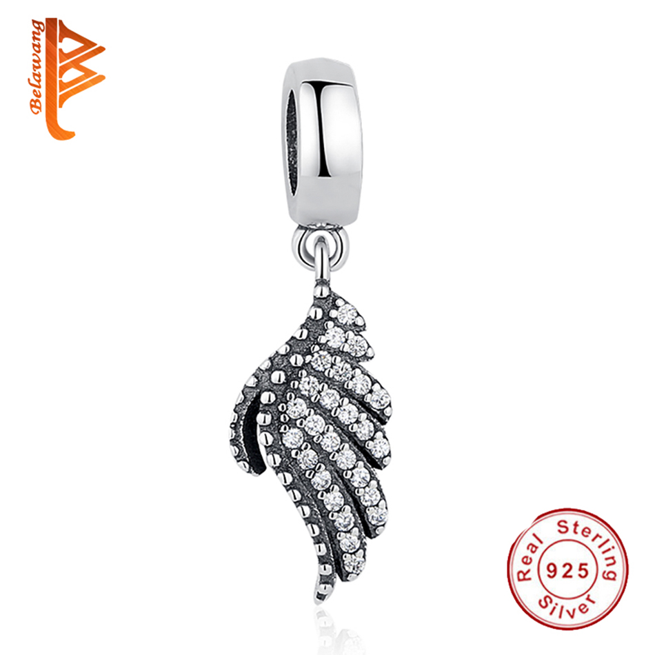 Genuine Solid 925 Sterling Silver Small Charm Pendant with CZ Crystals
