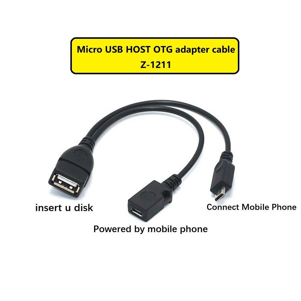 Etmakit 2 в 1 адаптер для использования на ходу микрокабель хоста Мощность Y сплиттер USB Micro 5 Pin Мужской Женский кабель для Аксессуары для телефон...