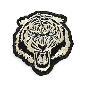 Parche de hierro con diseño de tigre bordado Para coser, aplique de...