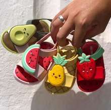 Melissa sapatos infantis melissa geléia sapatos morango melancia spin abacate frutas verão meninos e meninas sapatos planos