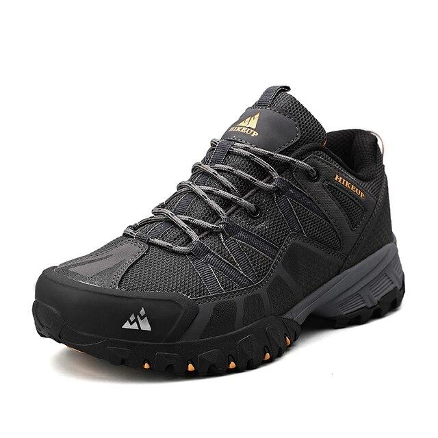 HIKEUP 2020 Summer Men Hiking Shoes Mesh Fabric Mountain Climbing Shoes Outdoor Trekking Sneakers Fishing Hunting Boots For Men 6