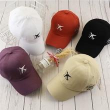[Tohuiyan] marca feminina osso boné de beisebol avião bordado snapback chapéus para homens moda casquette esportes bonés gorras hombre