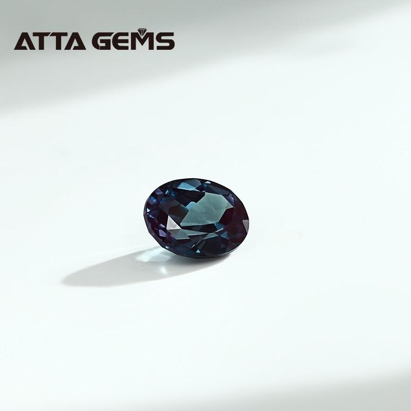 carats oval 7mm * 9mm criado alexandrite