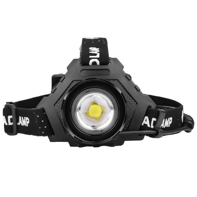 yunmai 2020 XHP70 Led headlamp Headlight most powerful 32W 8000lm head lamp zoom power bank 7800mAh 18650 battery for camping