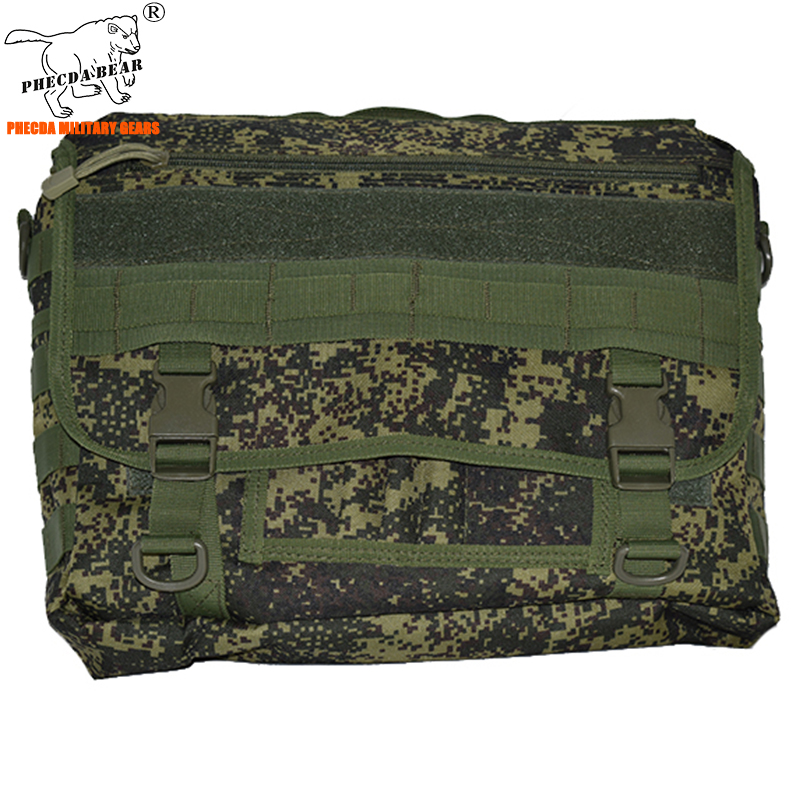 Russia Army Camouflage Military Messenger Bag Tactical Cross-body Bag EDC Military Laptop Bag 14 Inch Tactical Sling Bag Durable