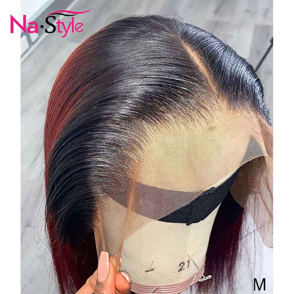Short Straight Bob 13x6 Undetectable Glueless Wig Unit Lace Pixie Cut Wig Pre Plucked Wig For Black Women 150 Remy