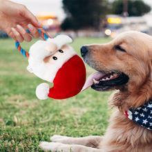 Домашние собаки Рождественский подарок в форме Санты жевательные