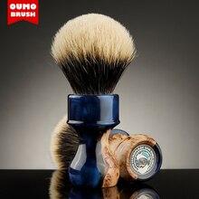 OUMO - Master Series 'SEA' Wood tumor Shaving Brush with SILK/ACE Shaving Brush Knot