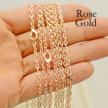 100 pcs - 30 Inch Rose Gold Necklace, Cable Chain Link Necklace