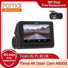 Dash-Cam Hardwire-Kit A800S ADAS 70mai Sony Imx415 Parking-Surveillance 24H Support Built-In gps