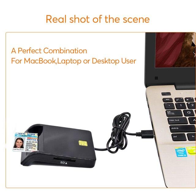 UTHAI X02 USB SIM Smart Card Reader For Bank Card IC/ID EMV SD TF MMC Cardreaders USB-CCID ISO 7816 for Windows 7 8 10 Linux OS 3