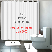 Curtain Bathroom Rugs Pictures Your-Pattern Customized Fabric Shower Non-Slip Print Hot-Sale