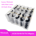 Bulk Items Lots 3D Real Mink Lashes Vendors Luxury Cruelty Free Lashed Wholesale Supplies Fluffy Wispy 5D Fake False Eyelashes