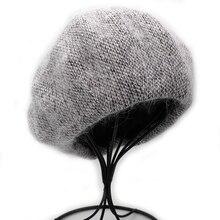 Beret Hat Bonnet-Caps Angora Rabbit Female Winter Fashion Women New Onidfurow Solid