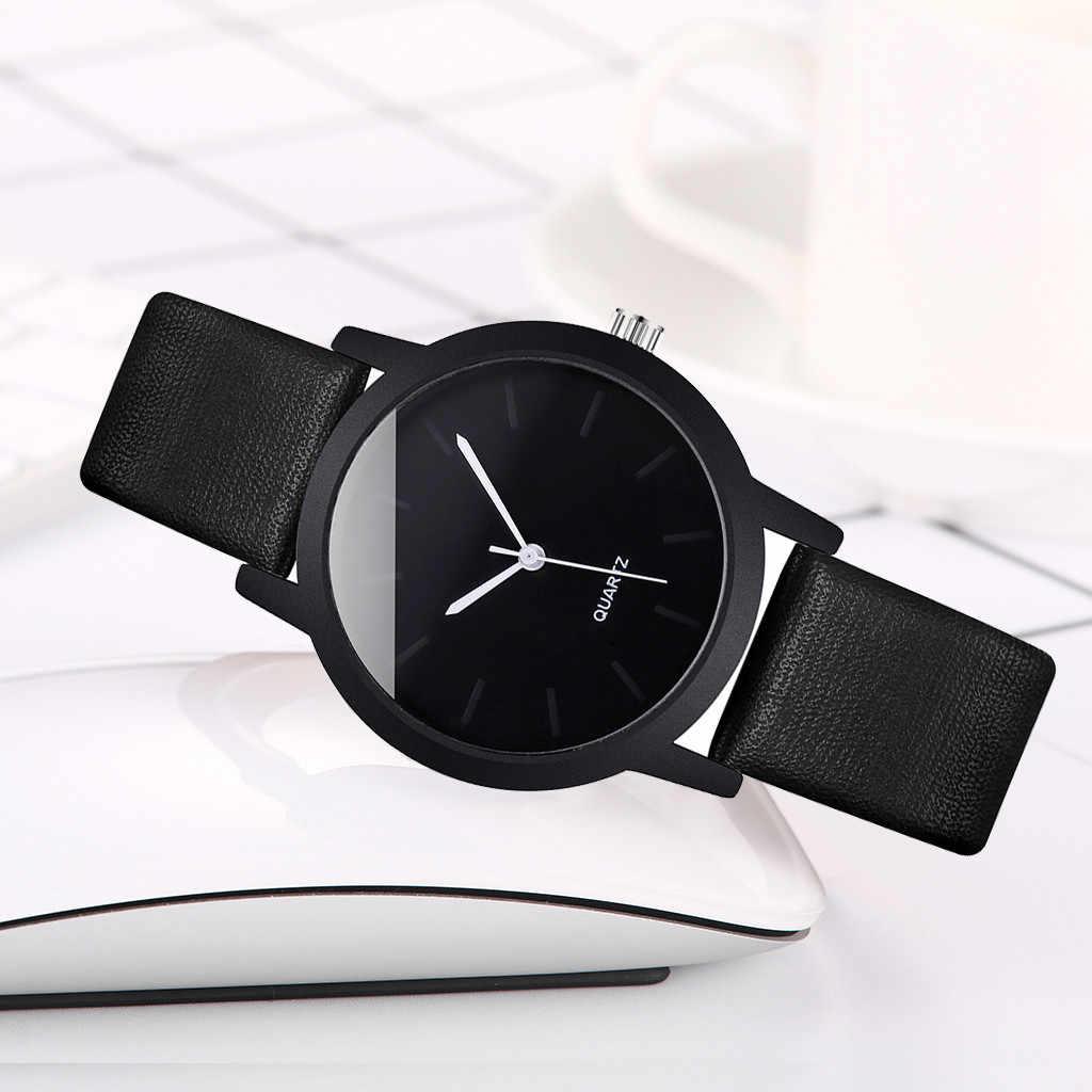 腕時計女性リロイ Mujer Vansvar ファッションシンプルなクリエイティブ幾何ラウンドベルト腕時計レロジオ Feminino クォーツ Zegarek 腕時計