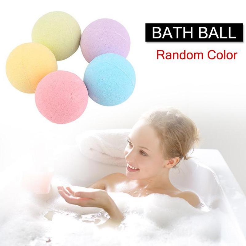 Random Color 40G Small Size Hotel Bathroom Bath Ball Bomb Aromatherapy Type Body Cleaner Handmade Bath Salt Bombs Gift