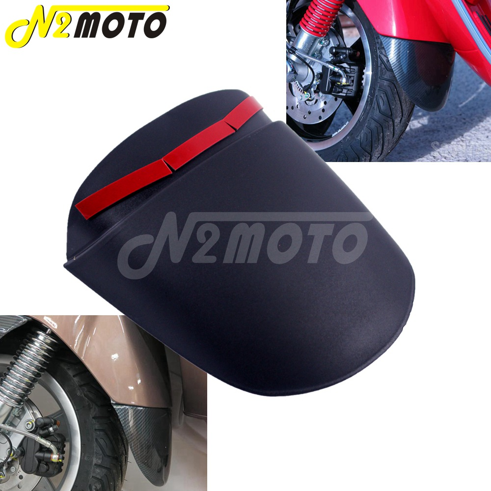 For Vespa GTS HPE SLUK Front Motorcycle Fender Mudguard Extensions Scooter Fender Lengthening ABS Plastic Splash Guard Cover