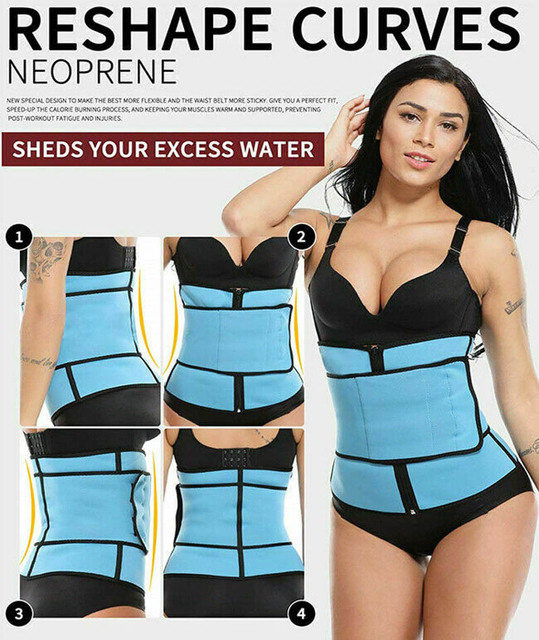 Adjustable waist trainer belt weight loss sweat band wrap fat tummy stomach sauna sweat belt body shaper yoga gym fitness