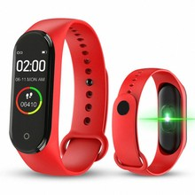 M4 Touch Screen Smart Watch IP67 Waterproof Blood Pressure Heart Rate Monitor Women Men Fitness Smart Wristband Sport Watch(China)