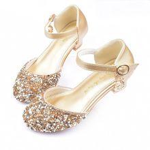 New Style Children High Heel Sandals Summer Girls Princess Shoes