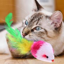 1 шт. игрушки для кошек Ложные мыши интерактивные мини забавные животные игральные игрушки для кошек котенок случайный цвет