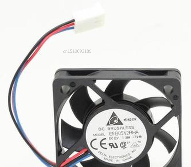 For Original  EFB0512HHA 5010 12V 0.2A 5cm Ultra Thin Server Cooling Fan Free Shipping