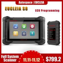 جهاز مسح كامل احترافي من إوكليا S8 موديل رقم J2534 ECU مزود ببرمجة ODB OBD2 أداة تشخيص السيارات PK MK908P