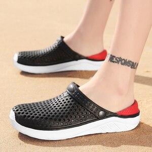 Image 2 - יוניסקס אופנה חוף כפכפים עבה בלעדי נעל עמיד למים אנטי להחליק סנדלי כפכפים לנשים גברים