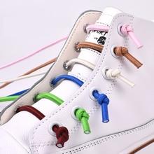Strong Elastic Shoelaces No Tie Shoe laces Round Outdoor Fashion Lazy laces Kids Adult Leisure Sneakers Quick Shoe lace 1 Pair цена