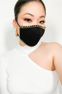 Halloween sexy heavy metal chain accessories mask decoration face accessories cover face jewelry for womens wedding nightclub