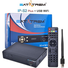 Satxtrem IP S2 1080P DVB-S2 Digital Satellite Receiver TV Tuner Support Wifi HD AC3 Youtube IKS Power Vu Biss Key With USB WIFI