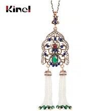 Kinel индийское ожерелье с двойной кисточкой для женщин античное
