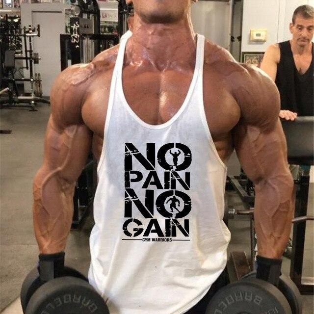 New Arrivals Bodybuilding stringer tank top man Cotton Gym sleeveless shirt men Fitness Vest Singlet sportswear workout tanktop 3