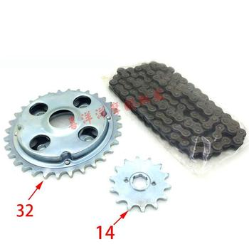 Motorcycle Spare part Chain set with gear sprocket geartransmission for Honda CA250 DD250 CA DD 250 250cc